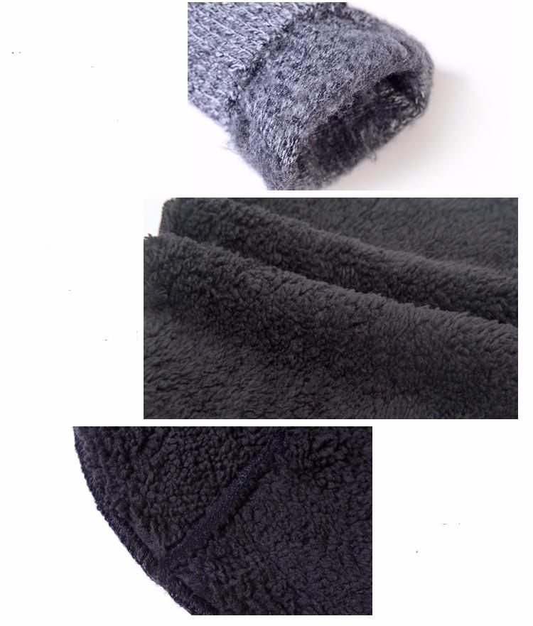 Plain Men Hat Scarf Gloves Sets Wool Knitted Beanies Winter Warm Muffler Scarves Snow Ski Caps Ring Scarf Telefingers Gloves