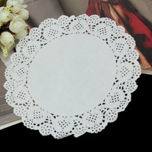 50Pcs/lot 19cm Cute Round Lace Paper Doilies Craft Cake Placemat Wedding Birthday Prom Party DIY Decoration New(China (Mainland))