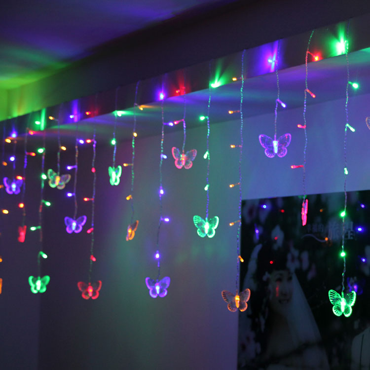 NEW Holiday lights festive supplies christmas lights decoration wedding 158 butterfly curtain string of lights<br><br>Aliexpress