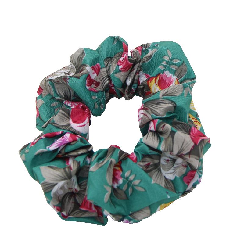Floral Print Vintage Design Women Scrunchie Women Hair Tie Ponytail Elastic Hair Holder Rope Fashion Hair Accessories FCD093(China (Mainland))