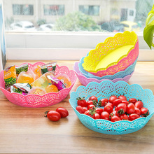 Buy 3240 Home Furnishing Food Grade PP Lace Pattern Plate Fruit Fruit Storage Basket Plastic Candy Tray Storage Disc for $3.99 in AliExpress store