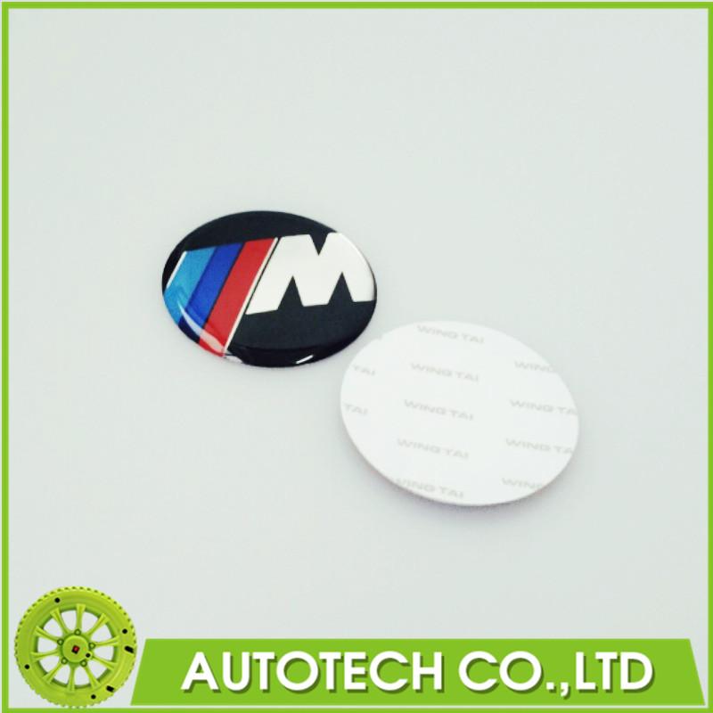 5Pcs/Lot ///M M Sport Car Emblem Badge Steering Wheel Emblem 45mm Adhesive 1 3 5 6 7 Z3 Z4 X5 Auto Accessorise(China (Mainland))