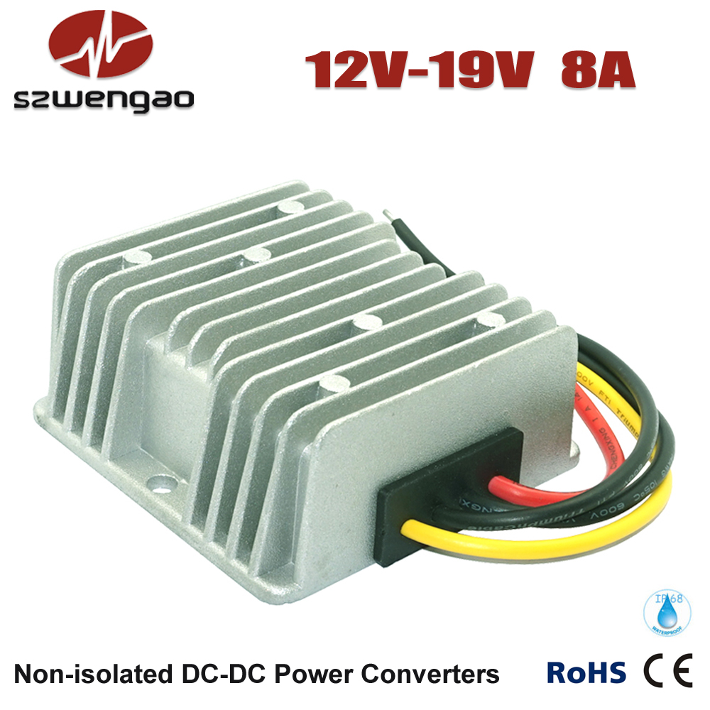 Wengao @ Step Up DC/DC Converter 12V to 19V 8A Boost Voltage Regulator, 150W Car Laptop Power Supply(China (Mainland))