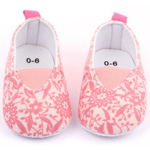 Fashion Toddler Baby First Walkers Girl Soft Sole Flat Casual Shoes Pink Floral Shoes Sneakers