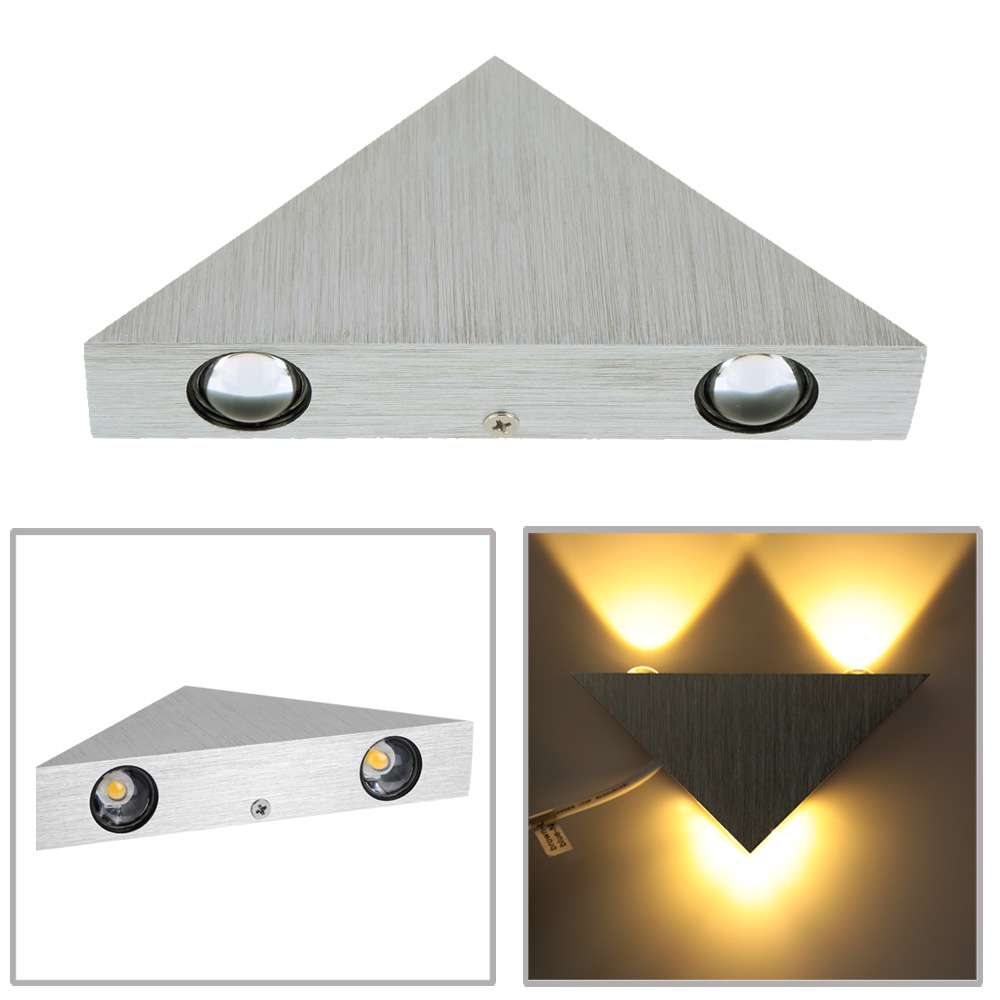 3W 85-265V AC Modern Simple Style Aluminum LED Wall Light Lamp Indoor Bedroom Hallway Aisle Kitchen for Home Decor and Lighting(China (Mainland))