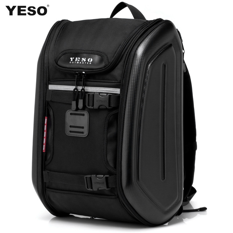 New fashion brand Yeso backpacks men's travel bags man motorcycle hard shell bag ride armor laptop backpack casual men bags(China (Mainland))