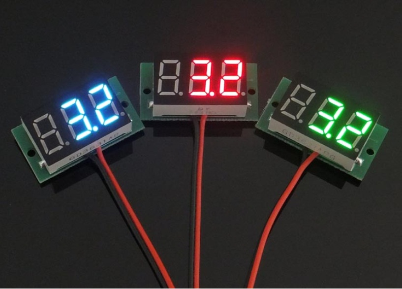 High Quality Mini Two Wires Digital Voltmeter GREEN LED Display DC2.5-30V Voltage Meter Voltage Detector Free Shipping APS0002<br><br>Aliexpress