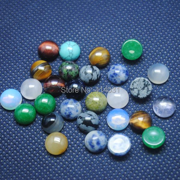 30 Pieces /Lot,Nature Gem Stone Cabochon Surface Fit For ...