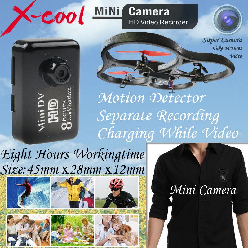 Free Shipping New MC-1 8Hours Mini camera Black Sports Video Camera Mini DVR Camera & Mini DV(China (Mainland))