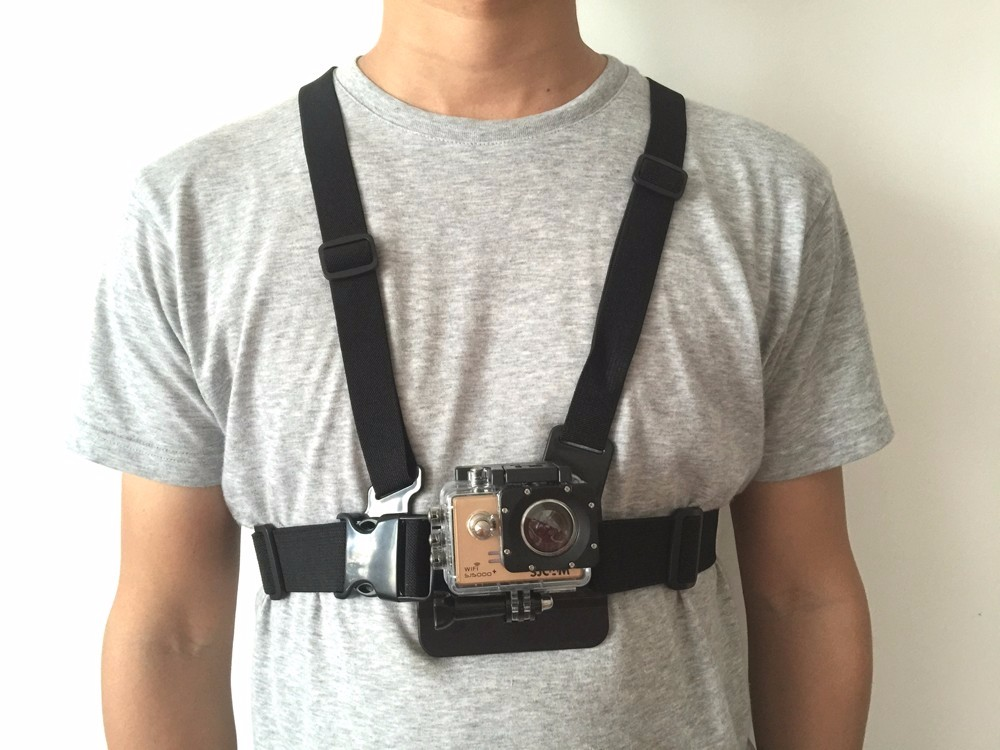 GoPro Accessories Chest Remote Wrist Belt Head Strap Mount Helmet Strap Bag for Go Pro Hero SJCAM SJ4000 Xiaomi yi Eken H9 H9R