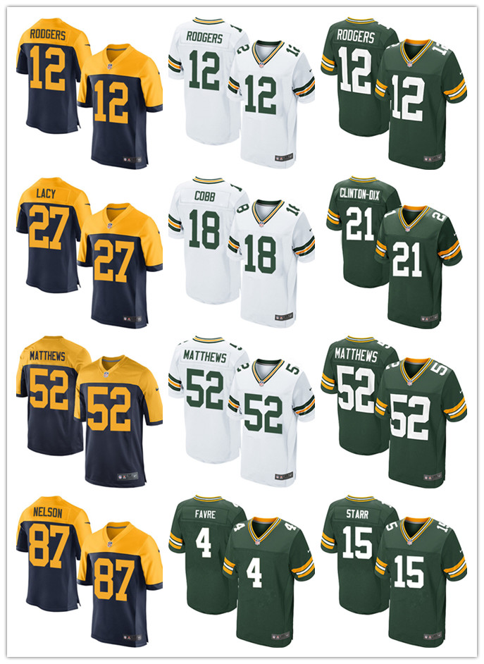 Brett Favre Aaron Rodgers Ha Ha Clinton-Dix Eddie Lacy Clay Matthews Bart Starr for YOUTH KIDS Packer(China (Mainland))