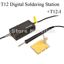 NEW T12 Digital Soldering Station Portable soldering iron BGA solder station 220V 50W +T12-I FOR HAKKO FX-951 HAKKO 936 EU(China (Mainland))
