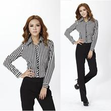 New 2014 Spring Formal Pant Suits for Women's Business Suits Work Wear Sets Female Pantsuit Office Uniform Style Striped