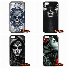 Sugar Skull Flower Pattern Phone Cover Case Samsung Galaxy 2015 2016 J1 J2 J3 J5 J7 A3 A5 A7 A8 A9 Pro - The End Cases store