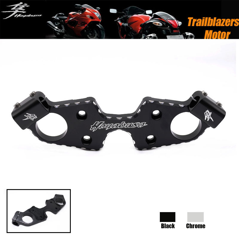 For SUZUKI HAYABUSA GSX1300R 2008-2015 Motorcycle Accessories Lowering Triple Tree Front End Upper Top Clamp Black(China (Mainland))