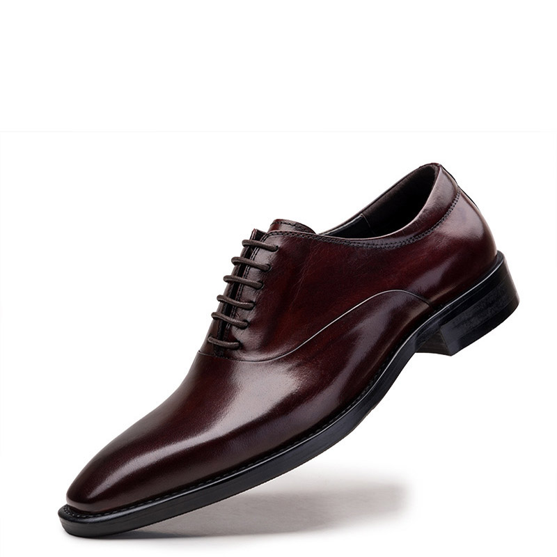 GRIMENTIN Fashion Italy luxury classic mens dress shoes genuine leather black brown office business men formal shoes basic flats(China (Mainland))