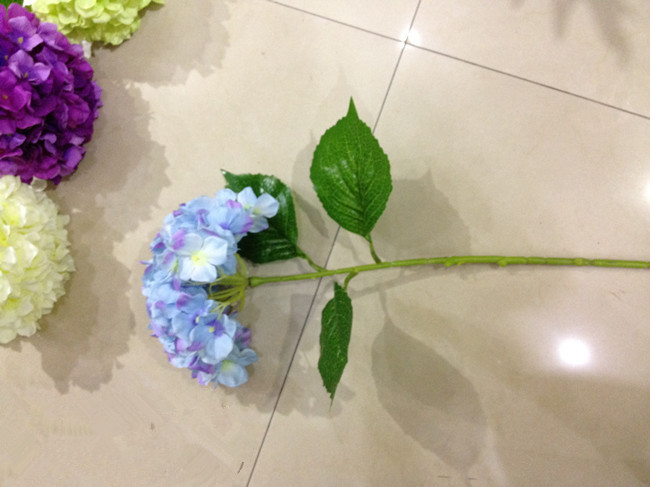 Factory outlets] Special supply simulation flower artificial flower silk flower corsage Europe Spring Single Hydrangea<br><br>Aliexpress