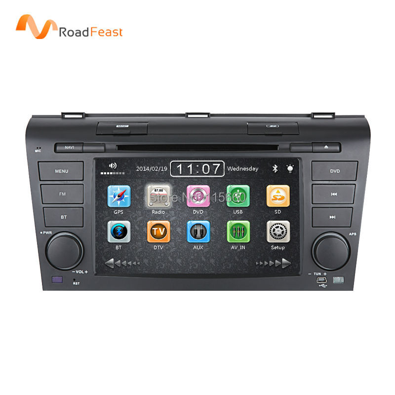 7Inch capacitive Touch Screen Car DVD player MAZDA 3 Fit 2004/2005/2006/2007/2008/2009/3G usb host GPS Navigation bluetooth - Roadfeast Parts store