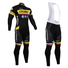 2015 colombia team Cycling Jersey WILIER Long Sleeve Cycling Jersey Breathable GEL Pad bib Pants Roupa Ciclismo Bike Wear(China (Mainland))
