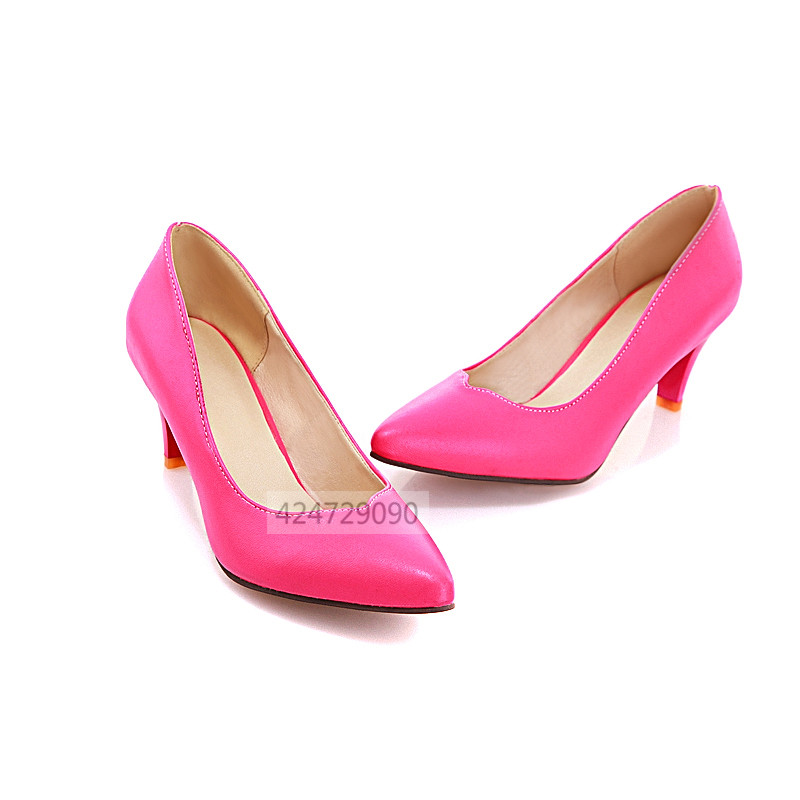 Pink Kitten Heel Pumps
