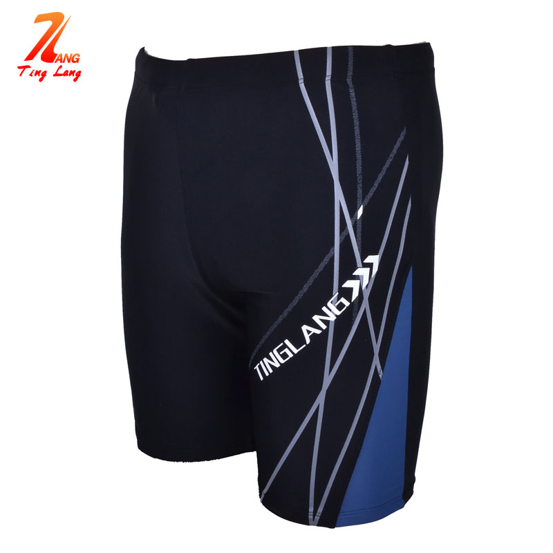 Men Beach Swimwear Swimming Trunks Plus Size Hip Racer Swim Boxer Shorts - Sunuo Sports & Outdoors s store
