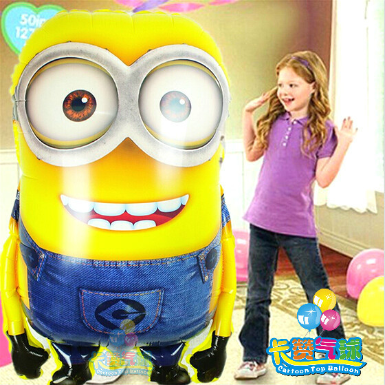 HOT selling 5pcs/lot super big Despicable Me foil balloons jumbo minions inflatable ballons party supplies Large Size 65*92 cm(China (Mainland))