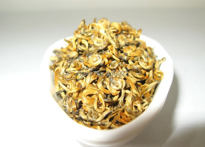 1000g Top Quality curly jinjunmei, Dian Hong,JinJunmei,Yunnan Black Tea,Free Shipping<br>