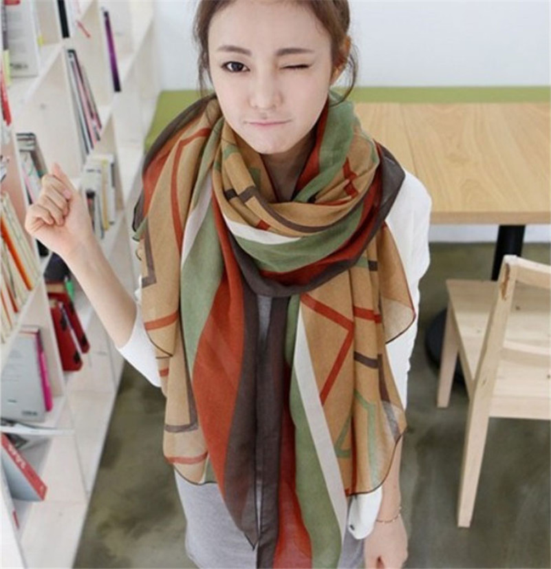 Stylish 2015 Winter Fall Soft Scarves Women Girls 170*80cm Leisure Striped Scarf pashmina Voile Wrap Shawl - East Closet store
