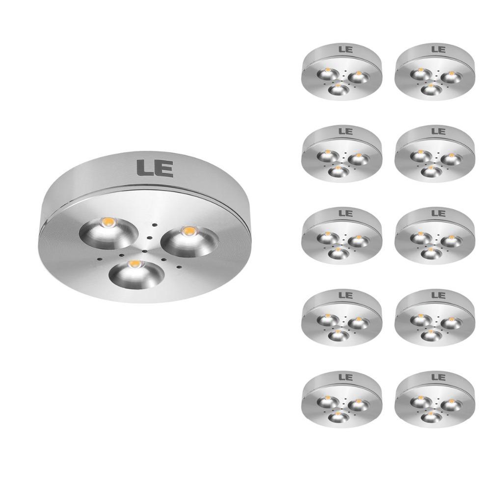 Kitchen Lighting Halogen Or Led: 10 Pcs/lot 3W LED Under Cabinet Lighting,Puck Lights,25