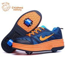 Baby Wheelie Shoes For Baby Boy&Girl Roller Skates Fashion Sneakers Double Wheel Heelys Baby shoes Mesh Patins Zapatillas Ruedas(China (Mainland))