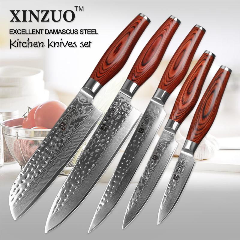 Acero de damasco cuchillo de cocina conjunto compra lotes baratos de acero de damasco cuchillo - Cuchillo de cocina acero damasco ...