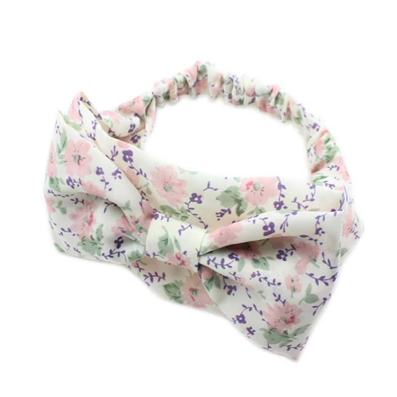 1 Pcs Baby Kids Girl Infant Knot Hairband Floral Turban Bow Headband Tie Head wrap Hair bands Accessaries