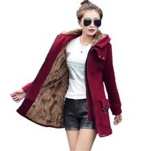 Plus Size Autumn Winter Women Hoodies Sweatshirts 2017 Fashion Zipper Up Thick Fleece Outwear Casual Hooded Coats Jackets female(China (Mainland))