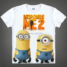 Hot Sale Despicable Me the minions crew-neck shirts Printed T-shirts for self-expressio, anime souvenirs tees christmas gift
