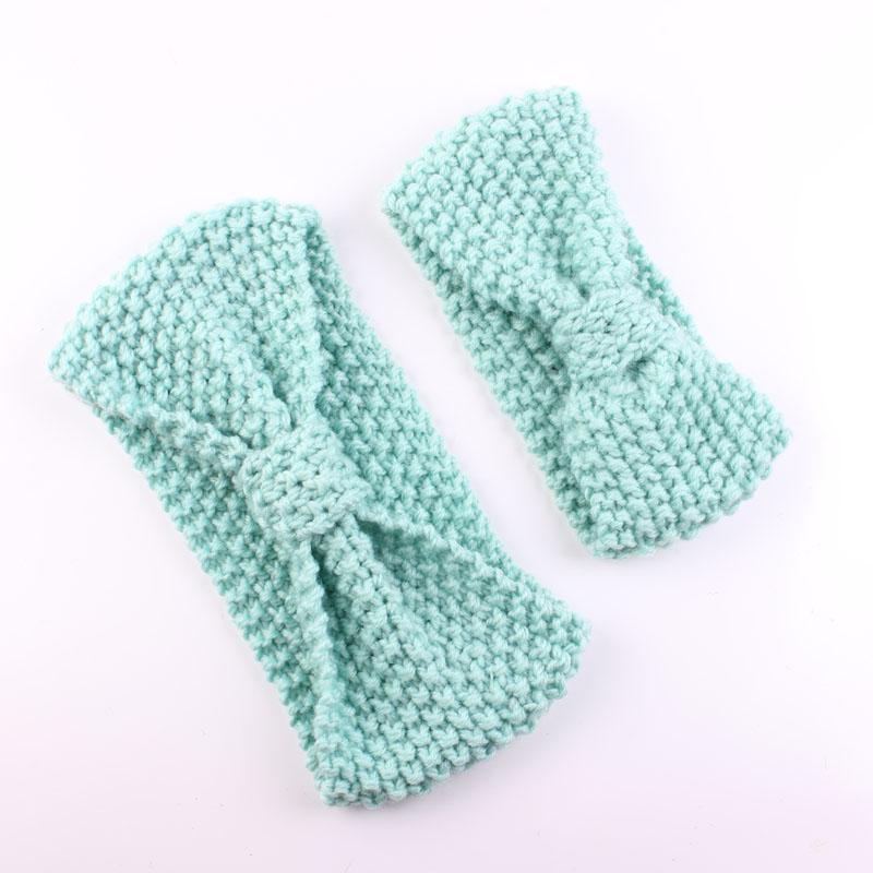 Free Crochet Earmuff Pattern : Mommy and Me Headband Knit Turban Headband Ear Warmer ...