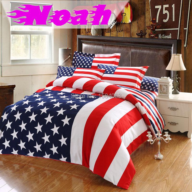 Usa drapeau ensemble de literie king size american pie - Housse de couette lit king size ...