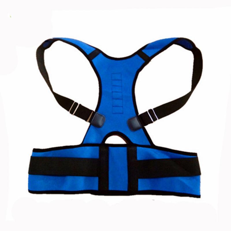 Top 1 Fully Neoprene Magnetic Postural Corrector Belt for Back Pain Shoulder Support Belt Posture Corrector Men(China (Mainland))