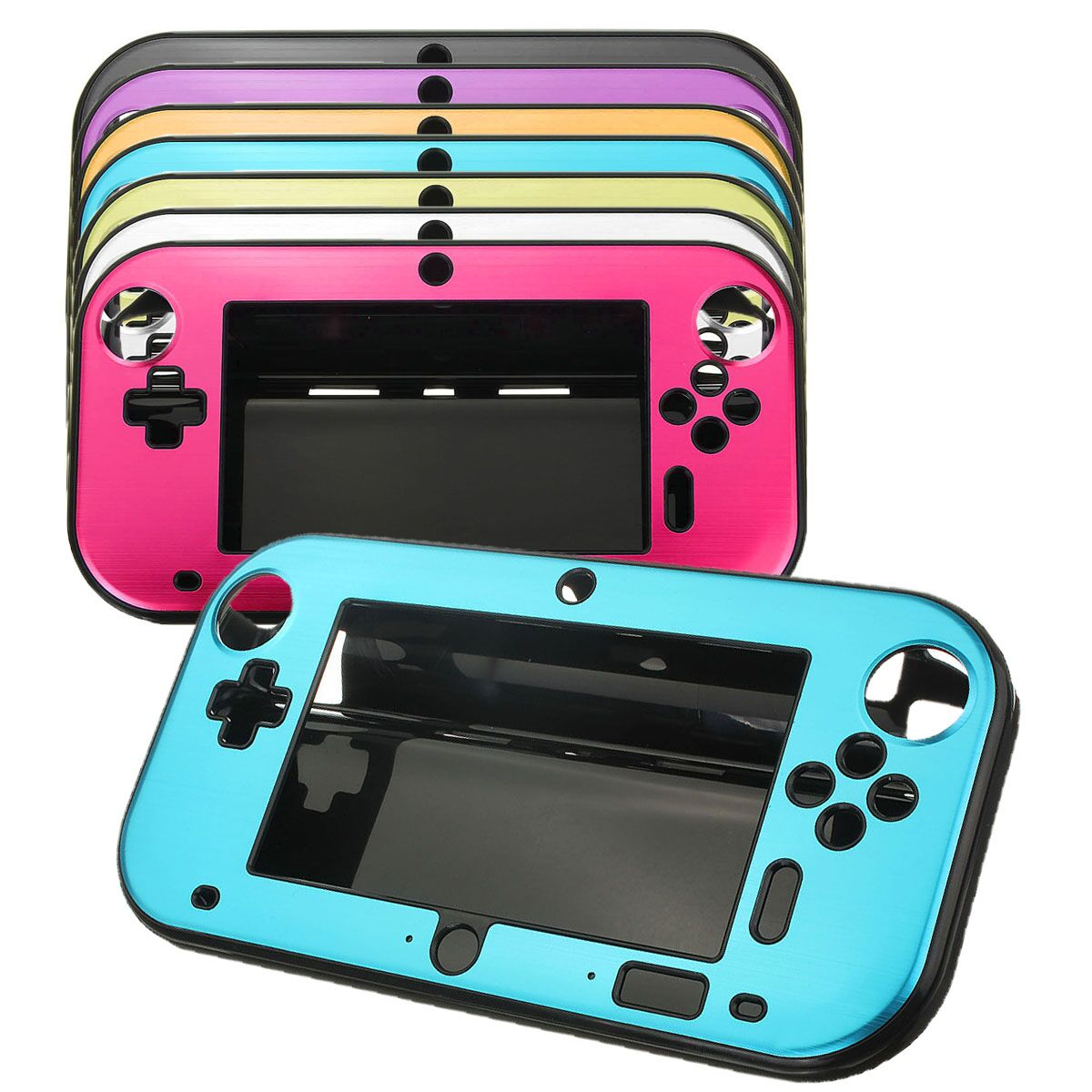 New Hot Sale 7 Colors Aluminum Case Cover Protector For Nintendo For Wii U Gamepad Remote Controller Accessories High Qualtiy(China (Mainland))