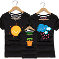 Sun Rain and Seed Short Sleeve T Shirts Love Family Matching Outfits Father Mother Son Daughter