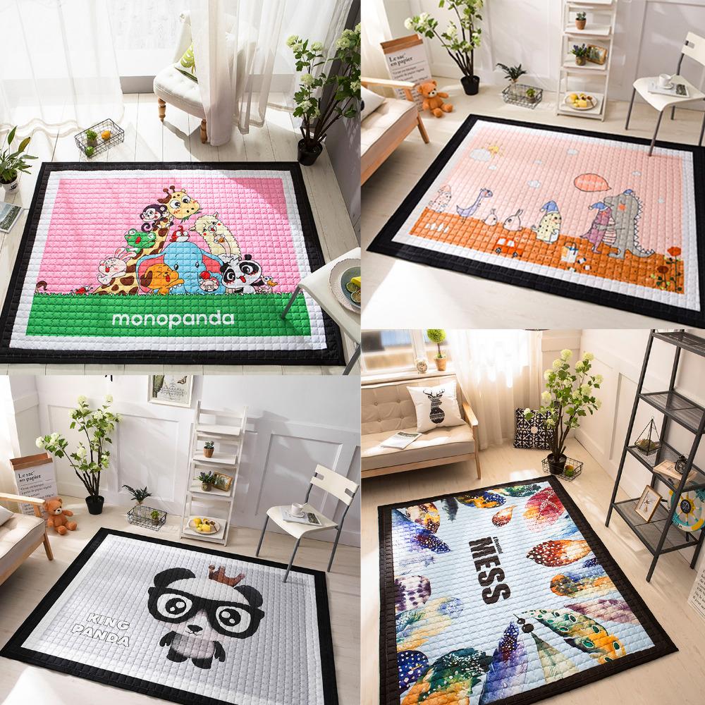 Bodenmatte Kinderzimmer | Top Thick Carpet Floor Mat Cotton Quilted Mat Baby Crawl font b Cushion b font Anti