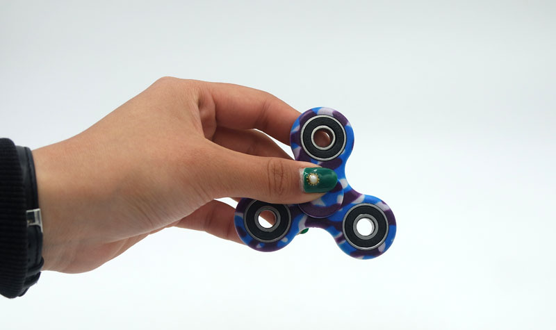 (LONSUN) Nice Feel Quality Multicolor Tri-Spinner Fidget spinner Speelgoed EDC Hand Spinner Anti Stress Reliever handspinner