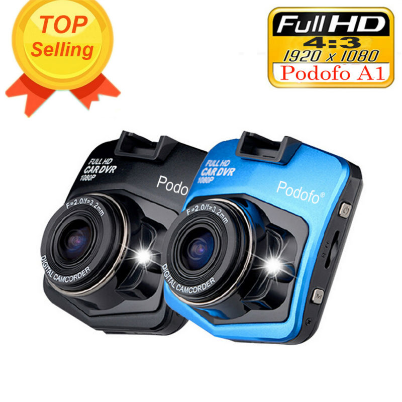 Original Podofo A1 Mini Car DVR Camera Dashcam Full HD 1080P Video Registrator Recorder G-sensor Night Vision Dash Cam Blackbox(Hong Kong)