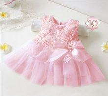 2016 summer cute infant baby girls Sleeveless princess dresses kid children toddlers clothing vestido infantil pink white DY009A(China (Mainland))