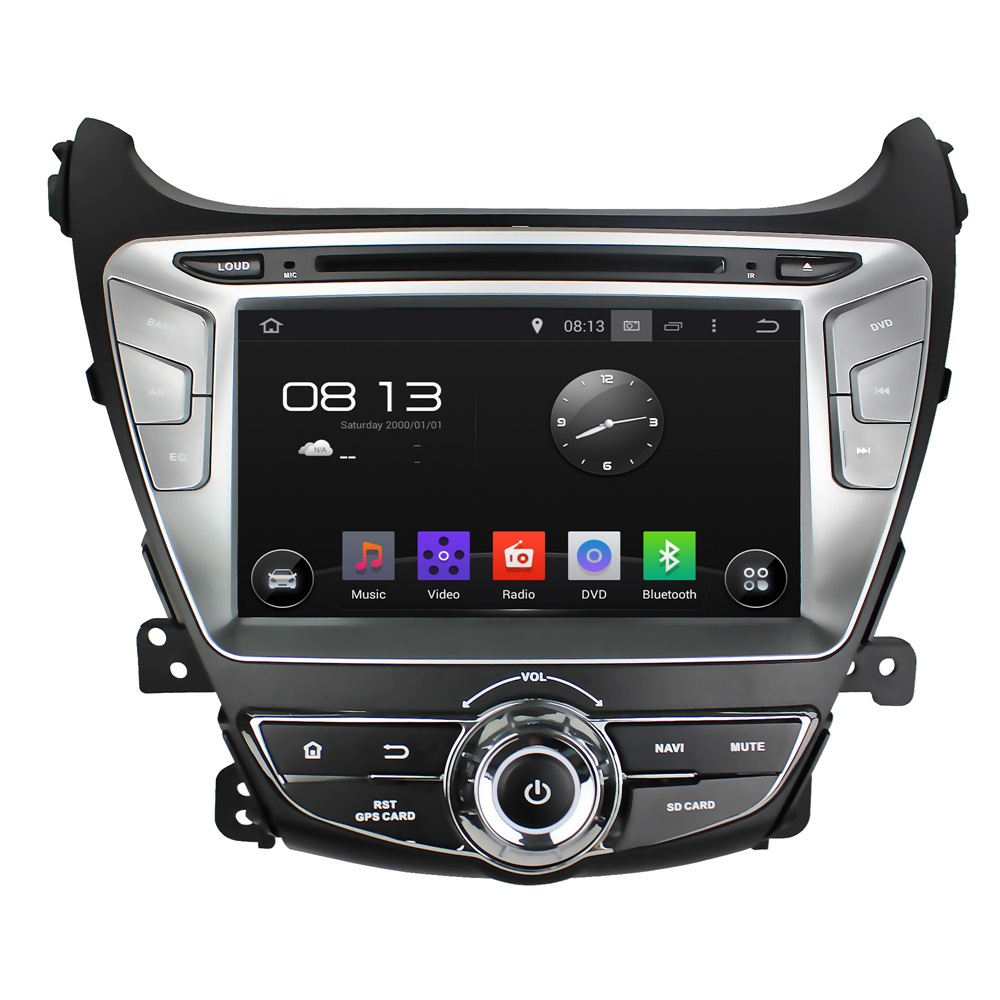 2016 New Pure Android 4.4 Quad Core  Vehicle Car DVD For Hyundai Elantra 2014 GPS Radio Audio Video Player Ipod Bluetooth Wifi<br><br>Aliexpress