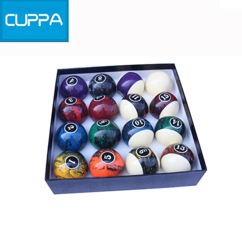 2016 Cuppa Pool Table Billiard Balls Set 57mm Size 16 Colors Billiards Accessories China New(China (Mainland))