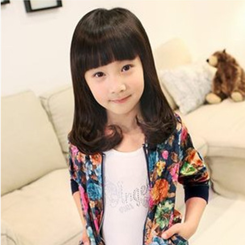 Children Wigs Girl Hair Curly Neat Bangs Pear Head Perm Baby Wigs Lovely Cute Wavy Photography Pictures Princess Hair Wig(China (Mainland))