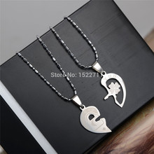 2015 Steampunk Necklaces & Pendants for Lovers Stainless Steel Forever Love Heart Necklace Statement Chocker Necklace Jewelry