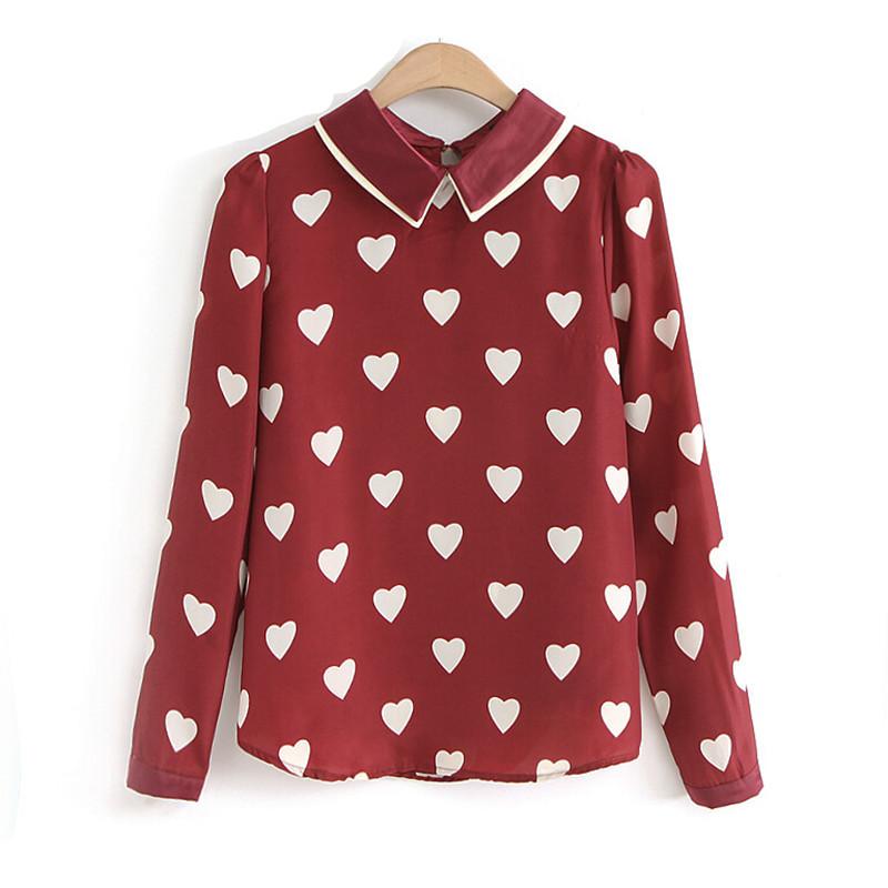 Peter pan collar blouses vintage new fashion women ladies for Peter pan shirt pattern