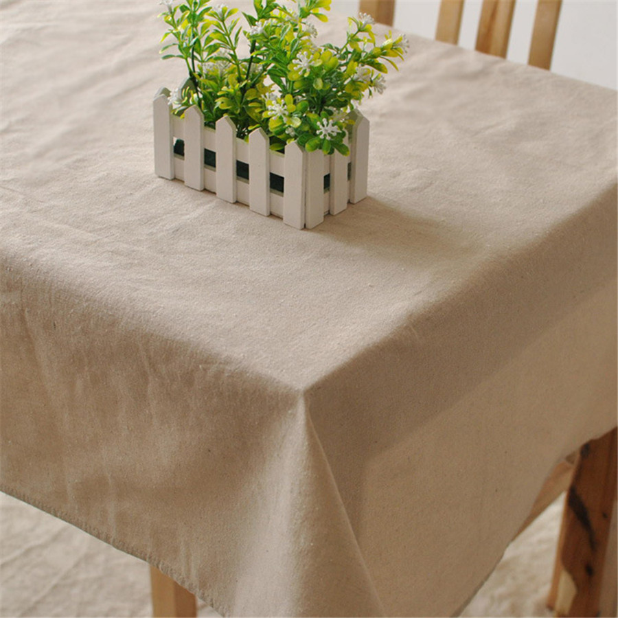 Table Cloth for 1pc HT8 Cotton Linen with solid color suitable for home boutique shop hotel dining and party decoration(China (Mainland))