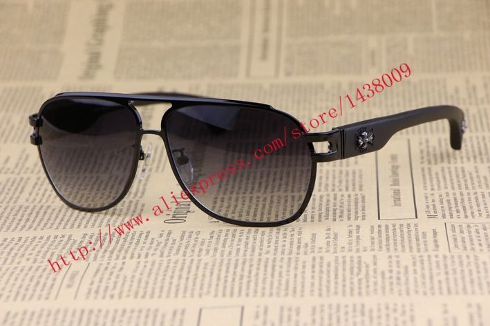 Фотография Metal frame Wood Leg  Men Sunglasses THE BRIWN  Square Frame  fashion personality Retro style Gradient Lens